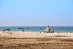Idylliczna plaża w Senegal właśnie północy Dakar Zdjęcie Stock