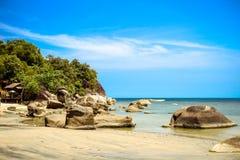 Idylliczna sceny plaża przy Samui wyspą Obraz Stock