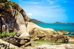 Idylliczna sceny plaża przy Samui wyspą Fotografia Royalty Free