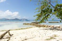 Idylliczna tropikalna sceneria zdjęcia stock