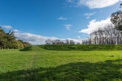 Idylliczna wieś w Palmerston północy Nowa Zelandia fotografia royalty free