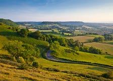Idylliczna wiejska ziemia uprawna, Cotswolds UK obraz stock
