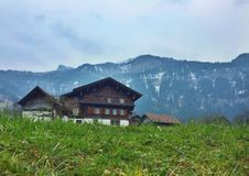 Idylliczna wioska w Szwajcaria Obraz Stock