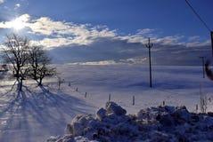 Idylliczny śniegu krajobraz zdjęcie royalty free