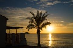 Idylliczny Śródziemnomorski wschód słońca obrazy stock