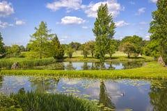 Idylliczny angielszczyzna park w Niemcy zdjęcia stock