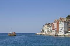 Idylliczny grodzki Rovinj w Istria zdjęcia royalty free
