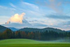 Idylliczny jesień krajobraz w Alps zdjęcie stock