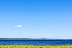 Idylliczny jezioro krajobraz Obrazy Stock