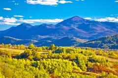 Idylliczny krajobraz blisko Plitvice jezior Zdjęcie Royalty Free