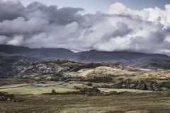 Idylliczny krajobraz Jeziorny okręg, Cumbria, UK zdjęcie royalty free
