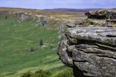 Idylliczny krajobraz Szczytowy Gromadzki park narodowy, Derbyshire, UK fotografia stock