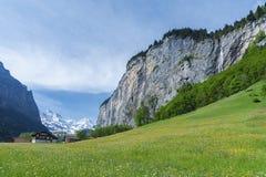Idylliczny krajobraz szwajcar obraz stock