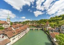 Idylliczny krajobraz szwajcar obraz royalty free