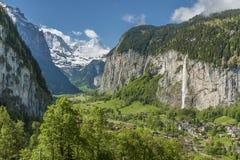 Idylliczny krajobraz szwajcar zdjęcia stock
