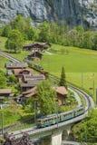 Idylliczny krajobraz szwajcar zdjęcia royalty free
