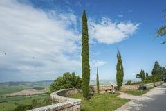 Idylliczny krajobraz Tuscany, Włochy Obraz Royalty Free