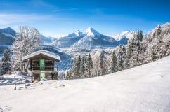 Idylliczny krajobraz w Bawarskich Alps, Berchtesgaden, Niemcy zdjęcia stock