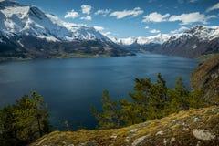 Idylliczny krajobraz w Norwegia zdjęcia stock