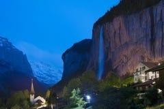Idylliczny krajobraz w Szwajcaria obrazy royalty free