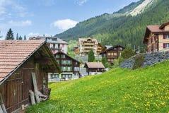 Idylliczny krajobraz w Szwajcaria fotografia royalty free