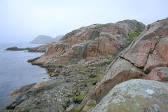 Idylliczny nadmorski w Norwegia fotografia royalty free