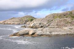 Idylliczny nadmorski w Norwegia zdjęcie stock