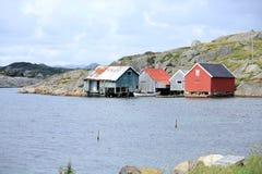 Idylliczny nadmorski w Norwegia zdjęcia royalty free