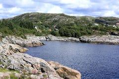 Idylliczny nadmorski w Norwegia obrazy stock
