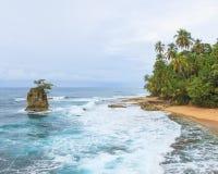 Idylliczny plażowy Manzanillo Costa Rica zdjęcia royalty free