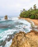 Idylliczny plażowy Manzanillo Costa Rica obraz stock
