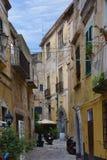 Idylliczny podwórko w Tropea, Calabria zdjęcia royalty free