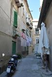 Idylliczny podwórko w Tropea, Calabria fotografia royalty free