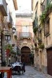 Idylliczny podwórko w Tropea, Calabria zdjęcie royalty free