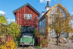 Idylliczny Söderköping podczas jesieni fotografia royalty free