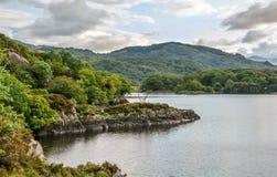 Idylliczny widok wzdłuż pierścionku Kerry, Irlandia zdjęcia royalty free