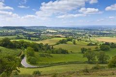 Idylliczny wiejski krajobraz, Cotswolds UK obrazy stock