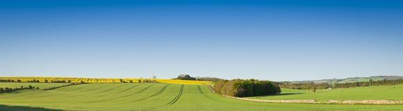 Idylliczny wiejski krajobraz, Cotswolds UK obraz royalty free