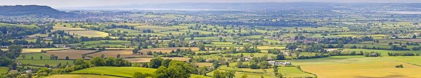 Idylliczny wiejski krajobraz, Cotswolds UK zdjęcie stock