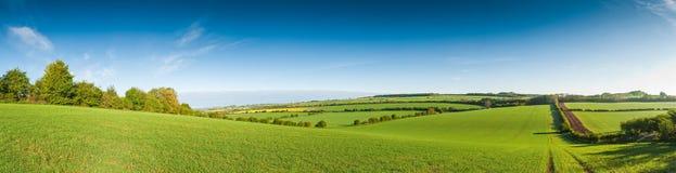 Idylliczny wiejski krajobraz, Cotswolds UK zdjęcia stock