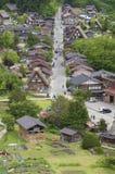 Idylliczny wiejski krajobraz Japonia obraz stock