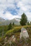 Idylliczny wysokogórski krajobraz przy Austria Fotografia Stock