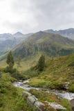 Idylliczny wysokogórski krajobraz przy Austria Obraz Stock