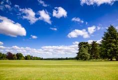 Idyllicznych anglików parkowy gazon Południowy Anglia UK Obraz Royalty Free