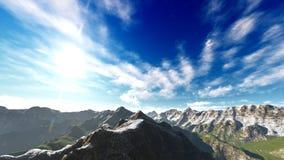 Idyllisch de zomerlandschap in het 3d teruggeven van Alpen stock illustratie