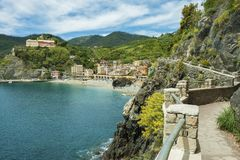 Idyllisch landschap van Cinque Terre, Italië royalty-vrije stock foto