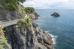 Idyllisch landschap van Cinque Terre, Italië royalty-vrije stock afbeelding