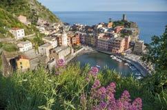 Idyllisch landschap van Cinque Terre, Italië stock fotografie
