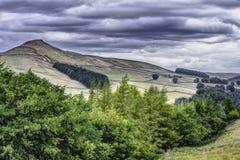 Idyllisch landschap van Piekdistricts Nationaal Park, Derbyshire, het UK stock foto's