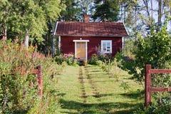 Idyllisch plattelandshuisje Stock Fotografie